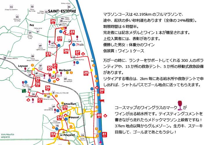 【メドックマラソンマップ】